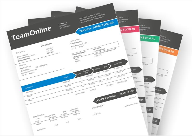 Vyber si nový design faktury v TeamOnline